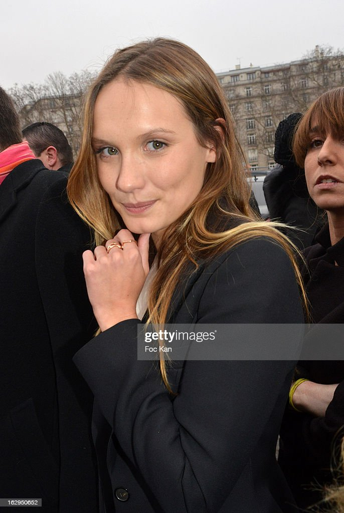 Ana Girardot attends the Christian Dior - Outside Arrivals - PFW F/W 2013 at Hotel des Invalides on March 1rst, 2013 in Paris, France.