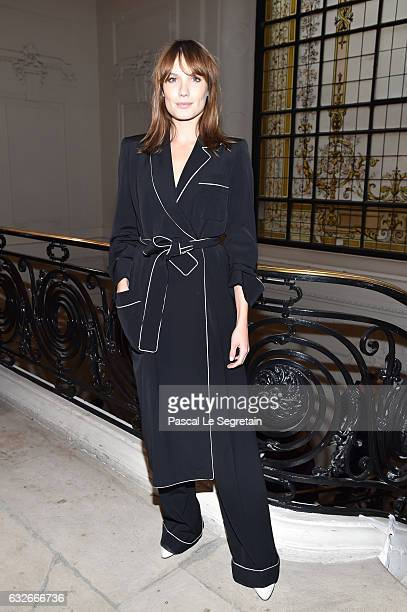 Ana Girardot attends the Jean Paul Gaultier Haute Couture Spring Summer 2017 show as part of Paris Fashion Week on January 25 2017 in Paris France
