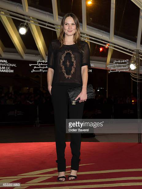 Ana Girardot attends the 'Sara' premiere at the 13th Marrakech International Film Festival on December 3 2013 in Marrakech Morocco