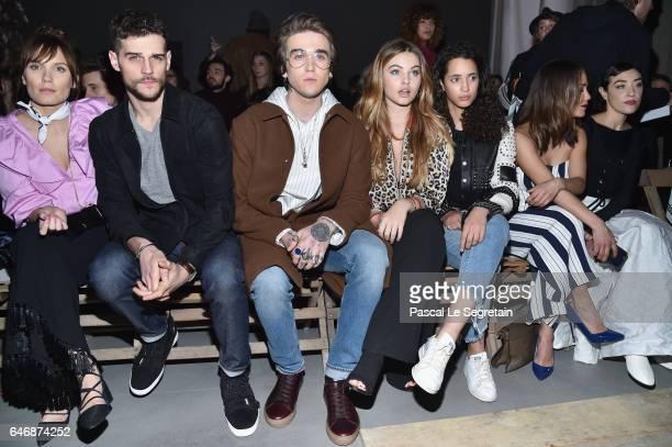 Ana Girardot Kevin Mishel GabrielKane DayLewis Thylane Blondeau Iman Perez and Alice Belaidi attend the HM Studio show as part of the Paris Fashion...