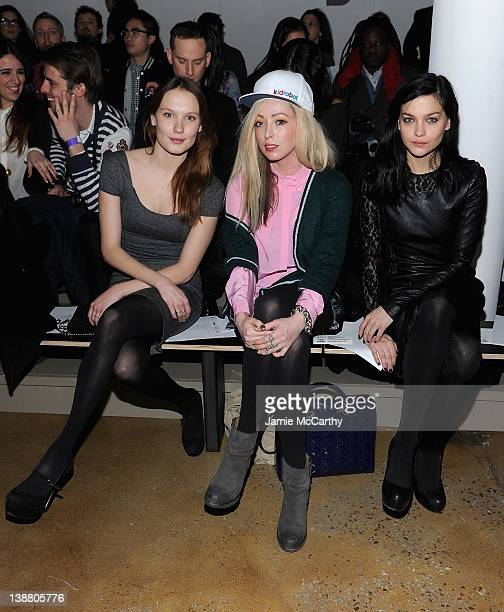 Ana GirardotKate White of the Ting Tings and Leigh Lezark attend the Kevork Kiledjian Fall 2012 fashion show during MercedesBenz Fashion Week at the...