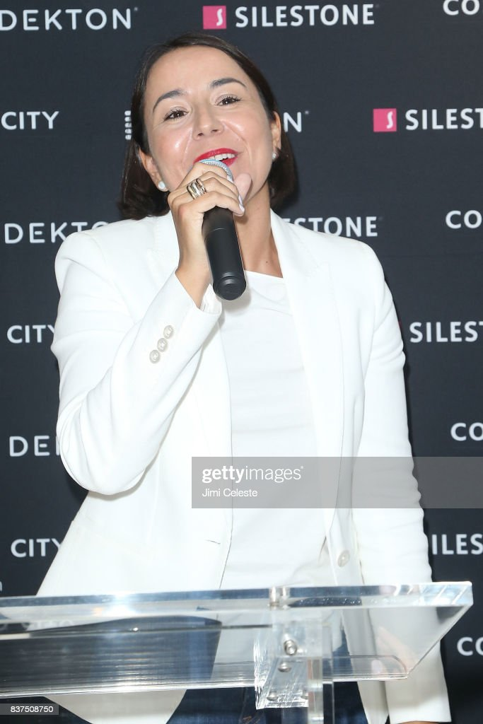 Ana Granados attends an exclusive cocktail event with Cosentino at Cosentino City Manhattan on August 22, 2017 in New York City.