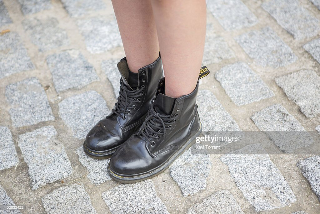 Ana is wearing boots from DrMartens at the Sonar Music Festival on June 14 2014 in Barcelona Spain
