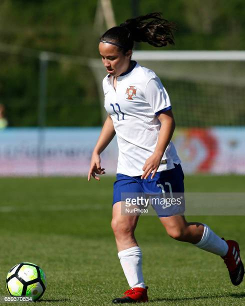 Ana Isabel Teles of Portugal during the UEFA U17 Women's Championship Qualifier match between Spain and Portugal at Cidade do Futebol stadium on...