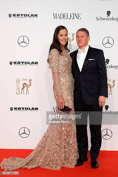Ana Ivanovic and Bastian Schweinsteiger arrive at the Bambi Awards 2016 at Stage Theater on November 17 2016 in Berlin Germany