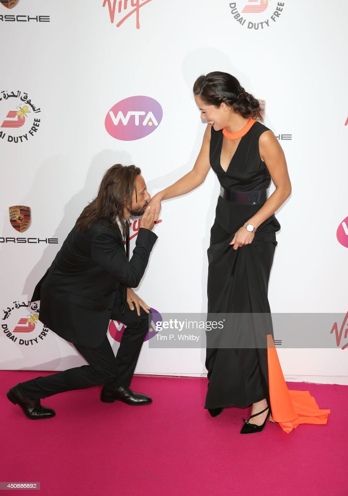 Ana Ivanovic and guest attend the WTA PreWimbledon party at Kensington Roof Gardens on June 19 2014 in London England