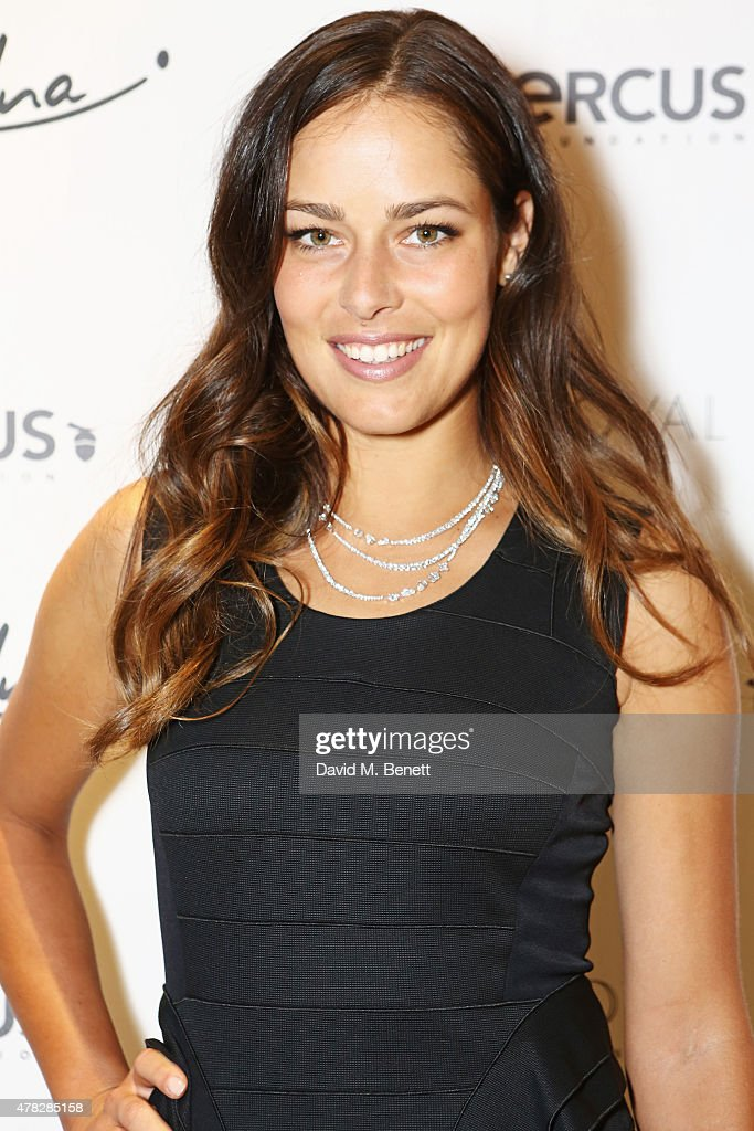 Ana Ivanovic arrives at the Quercus Foundation Pre-Wimbledon Cocktails with Ana Ivanovic in the Ten Room at Hotel Cafe Royal on June 24, 2015 in London, England.
