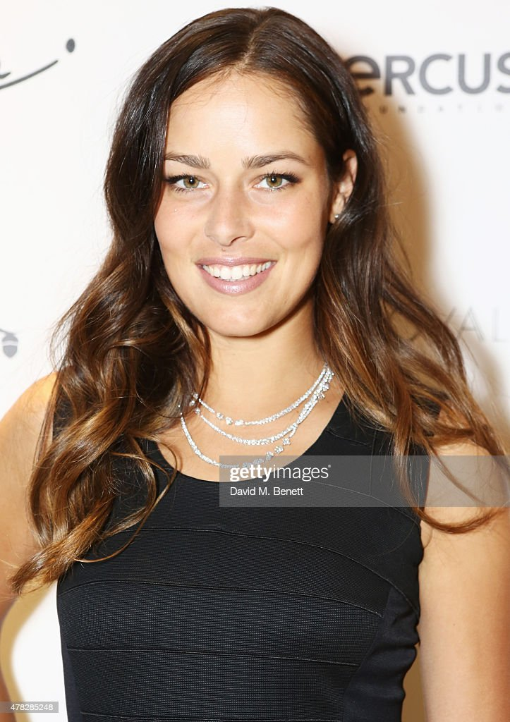 Ana Ivanovic arrives at the Quercus Foundation Pre-Wimbledon Cocktails with Ana Ivanovic in the - ana-ivanovic-arrives-at-the-quercus-foundation-prewimbledon-cocktails-picture-id478285248
