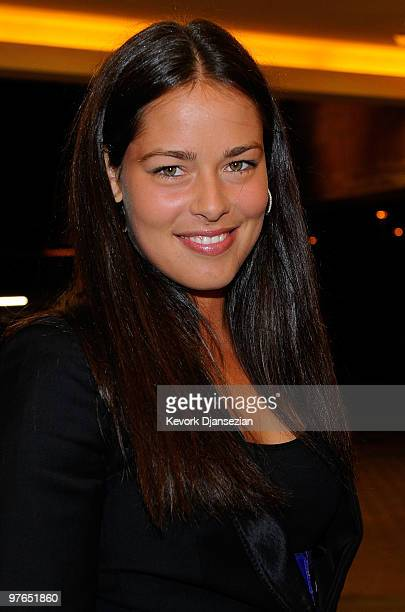 Ana Ivanovic arrives to a players party for the BNP Paribas Open on March 11 2010 in Indian Wells California