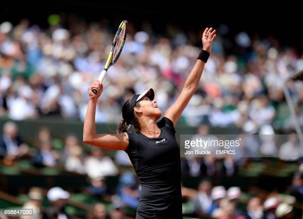 Ana Ivanovic during her Women's QuaterFinal match against Elina Svitolina on day ten of the French Open at Roland Garros on June 2 2015 in Paris...