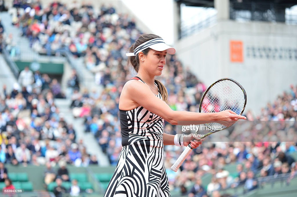 Ana Ivanovic during the Women's Singles first round on day three of the French Open 2016 at Roland Garros on May 24, 2016 in Paris, France.