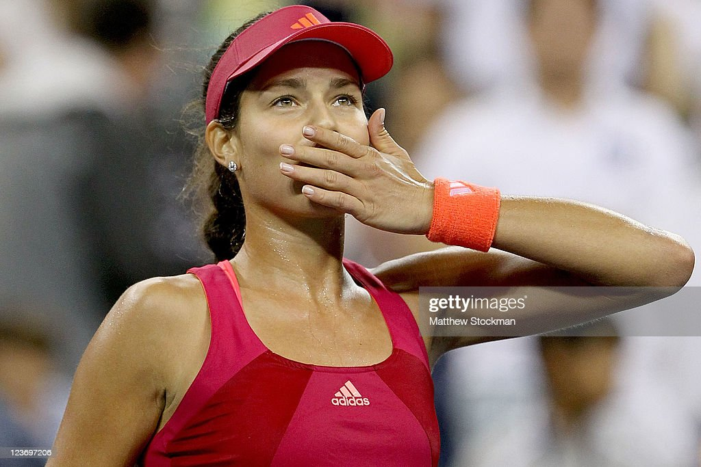 <a gi-track='captionPersonalityLinkClicked' href=/galleries/search?phrase=Ana+Ivanovic&family=editorial&specificpeople=542118 ng-click='$event.stopPropagation()'>Ana Ivanovic</a> of Serbia acknowledges the crowd after her win over Sloane Stephens of the United States during Day Six of the 2011 US Open at the USTA Billie Jean King National Tennis Center on September 3, 2011 in the Flushing neighborhood of the Queens borough of New York City.