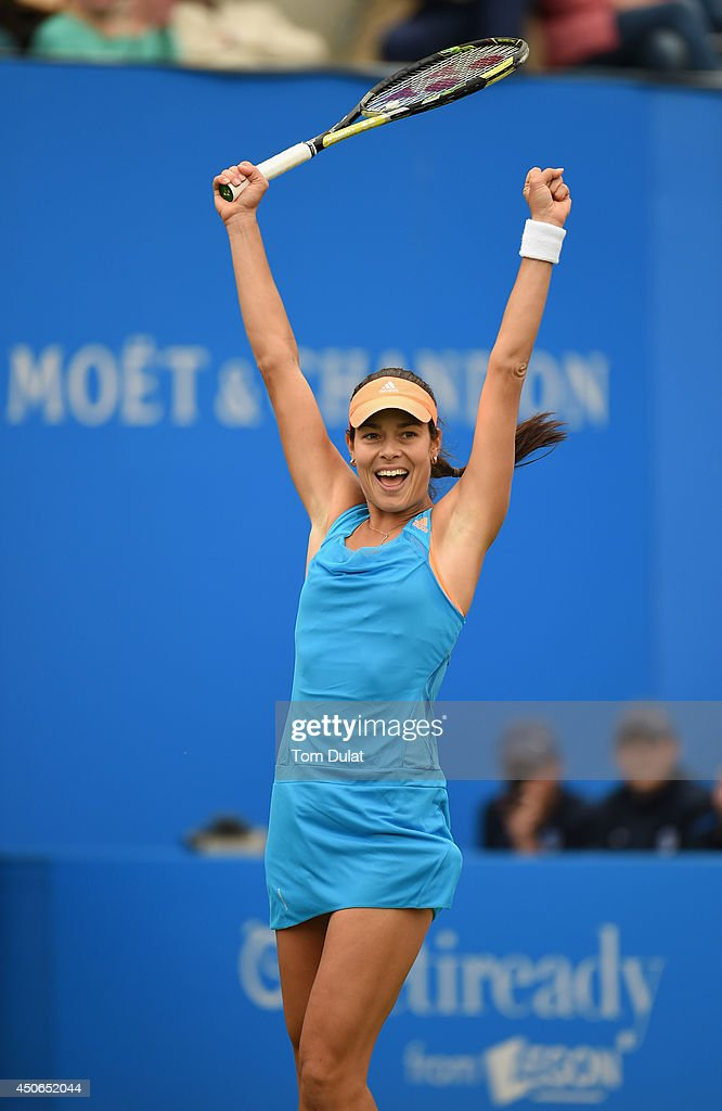 <a gi-track='captionPersonalityLinkClicked' href=/galleries/search?phrase=Ana+Ivanovic&family=editorial&specificpeople=542118 ng-click='$event.stopPropagation()'>Ana Ivanovic</a> of Serbia celebrates her victory in the Singles Final during Day Seven of the Aegon Classic at Edgbaston Priory Club on June 15, 2014 in Birmingham, England.
