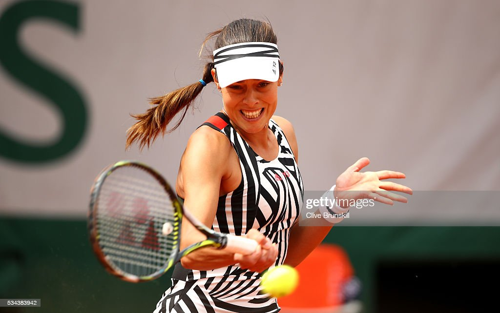 <a gi-track='captionPersonalityLinkClicked' href=/galleries/search?phrase=Ana+Ivanovic&family=editorial&specificpeople=542118 ng-click='$event.stopPropagation()'>Ana Ivanovic</a> of Serbia hits a forehand during the Ladies Singles second round match against Kurumi Nara of Japan on day five of the 2016 French Open at Roland Garros on May 26, 2016 in Paris, France.