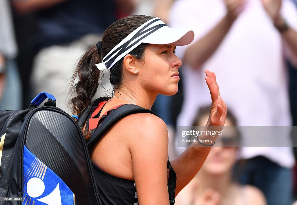 Ana Ivanovic of Serbia leaves court after the women's single third round match against Elina Svitolina (not seen) of Ukraine at the French Open tennis tournament at Roland Garros Stadium in Paris, France on May 28, 2016.
