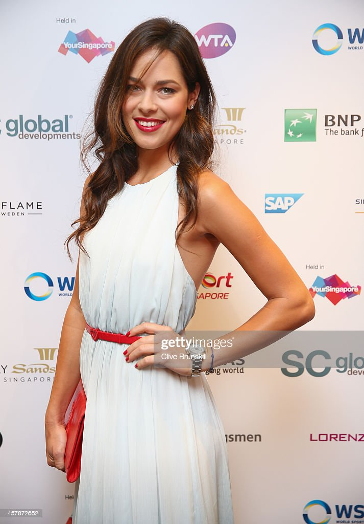 <a gi-track='captionPersonalityLinkClicked' href=/galleries/search?phrase=Ana+Ivanovic&family=editorial&specificpeople=542118 ng-click='$event.stopPropagation()'>Ana Ivanovic</a> of Serbia poses for a photograph at the WTA Year End Gala Party at the Marina Bay Sands Hotel during the BNP Paribas WTA Finals at Singapore Sports Hub on October 25, 2014 in Singapore.