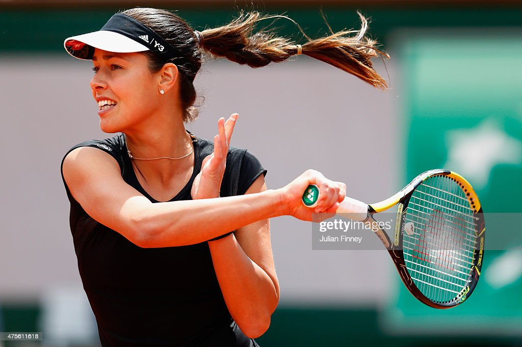 <a gi-track='captionPersonalityLinkClicked' href=/galleries/search?phrase=Ana+Ivanovic&family=editorial&specificpeople=542118 ng-click='$event.stopPropagation()'>Ana Ivanovic</a> of Serbia returns a shot in her Women's quarter final match against Elina Svitolina of Ukraine on day of the 2015 French Open at Roland Garros on June 2, 2015 in Paris, France.