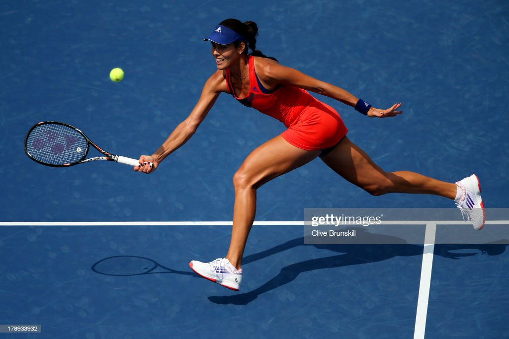 <a gi-track='captionPersonalityLinkClicked' href=/galleries/search?phrase=Ana+Ivanovic&family=editorial&specificpeople=542118 ng-click='$event.stopPropagation()'>Ana Ivanovic</a> of Serbia returns a shot to Christina McHale of the United States during their women's singles third round match on Day Six of the 2013 US Open at USTA Billie Jean King National Tennis Center on August 31, 2013 in the Flushing neighborhood of the Queens borough of New York City.