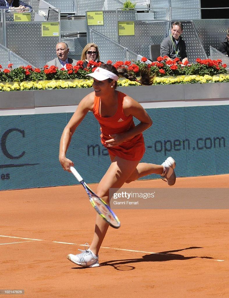 Ana Ivanovic, SRB,, in 'Mutua Madrilena Madrid Open' of tennis, 8th May 2010, in 'La Caja Magica'. Madrid, Spain.