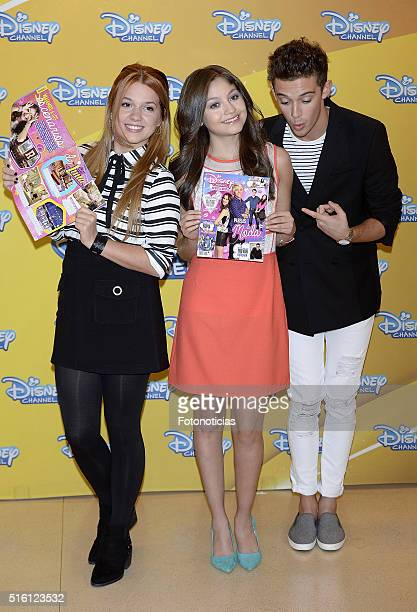 Ana Jara Karol Sevilla and Ruggero Pasquarelli attend a photocall for 'Soy Luna' on March 17 2016 in Madrid Spain