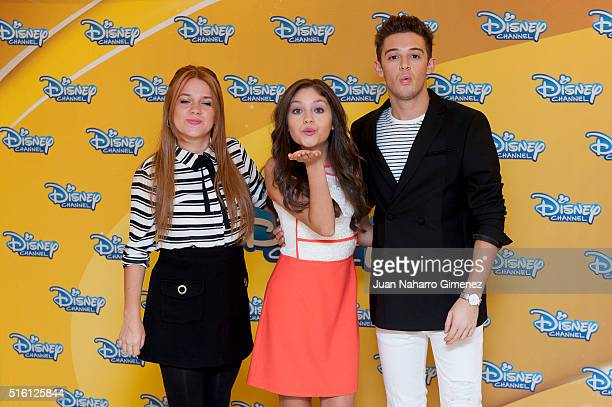 Ana Jara Karol Sevilla and Ruggero Pasquarelli attend 'Soy Luna' photocal at Hesperia Hotel on March 17 2016 in Madrid Spain