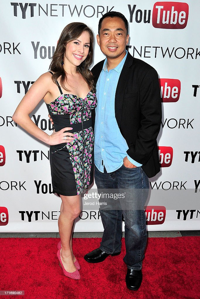 Ana Kasparian and Steve Oh arrive at YouTube and TYT Network Present the 1st Annual YouTube PRIDE Party Hosted By Dave Rubin at YouTube Space LA on June 27, 2013 in Los Angeles, California.