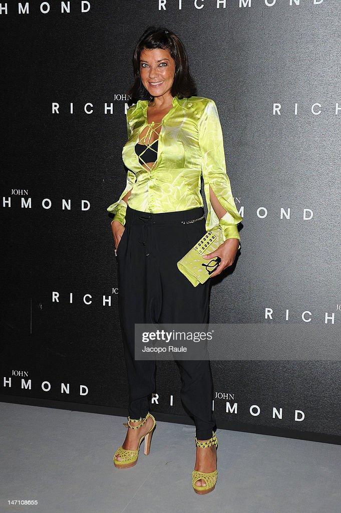 Ana Laura Ribas arrives at the John Richmond show as part of Milan Fashion Week Menswear Spring/Summer 2013 on June 25, 2012 in Milan, Italy.