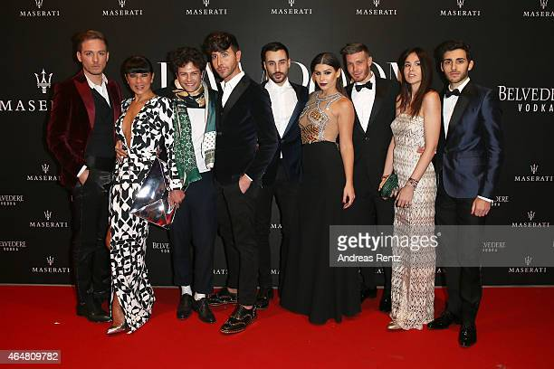 Ana Laura Ribas Nima Benati and guests attend the 'The Misia Ball' Lampoon Launch Party during the Milan Fashion Week Autumn/Winter 2015 on February...