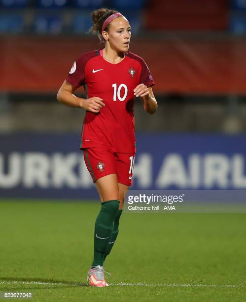 Ana Leite of Portugal Women during the UEFA Women's Euro 2017 match between Portugal and England at Koning Willem II Stadium on July 27 2017 in...
