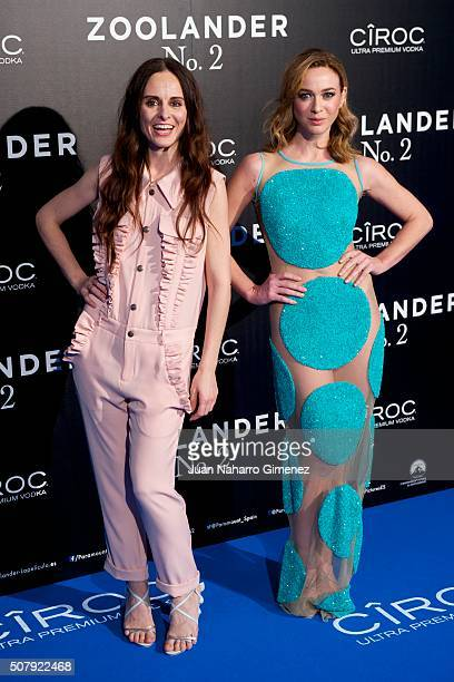 Ana Locking and Marta Hazas attend the Madrid Fan Screening of the Paramount Pictures film 'Zoolander No 2' at the Capitol Theater on February 1 2016...