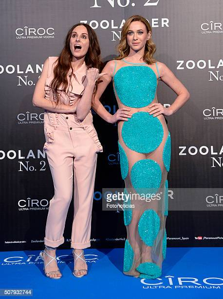 Ana Locking and Marta Hazas attend the Madrid Fan Screening of the Paramount Pictures film 'Zoolander No 2' at the Capitol Cinema on February 1 2016...
