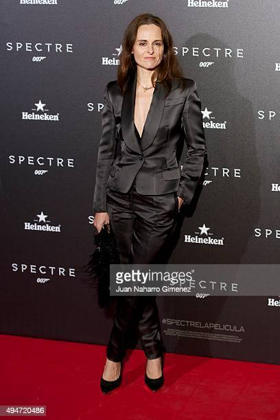 Ana Locking attends 'SPECTRE 007' premiere at Teatro Real on October 28 2015 in Madrid Spain