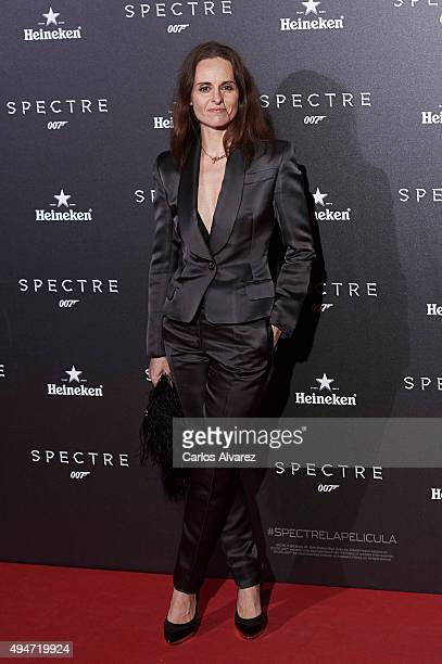 Ana Locking attends the 'Spectre' premiere at the Royal Theater on October 28 2015 in Madrid Spain