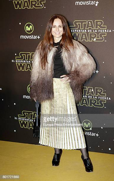 Ana Locking attends the 'Star Wars The Force Awakens' premiere at Callao City Lights cinema on December 16 2015 in Madrid Spain