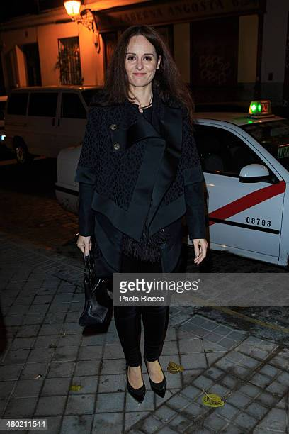 Ana Locking is seen arriving to 'Maison Dom Perignon' party at Pinto Duarte Palace on December 9 2014 in Madrid Spain
