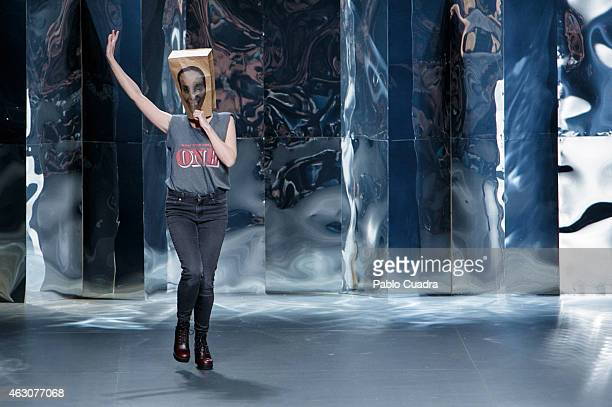 Ana Locking walks the runway at the end of her show during Mercedes Benz Madrid Fashion Week Fall/Winter 2015/16 at Ifema on February 9 2015 in...