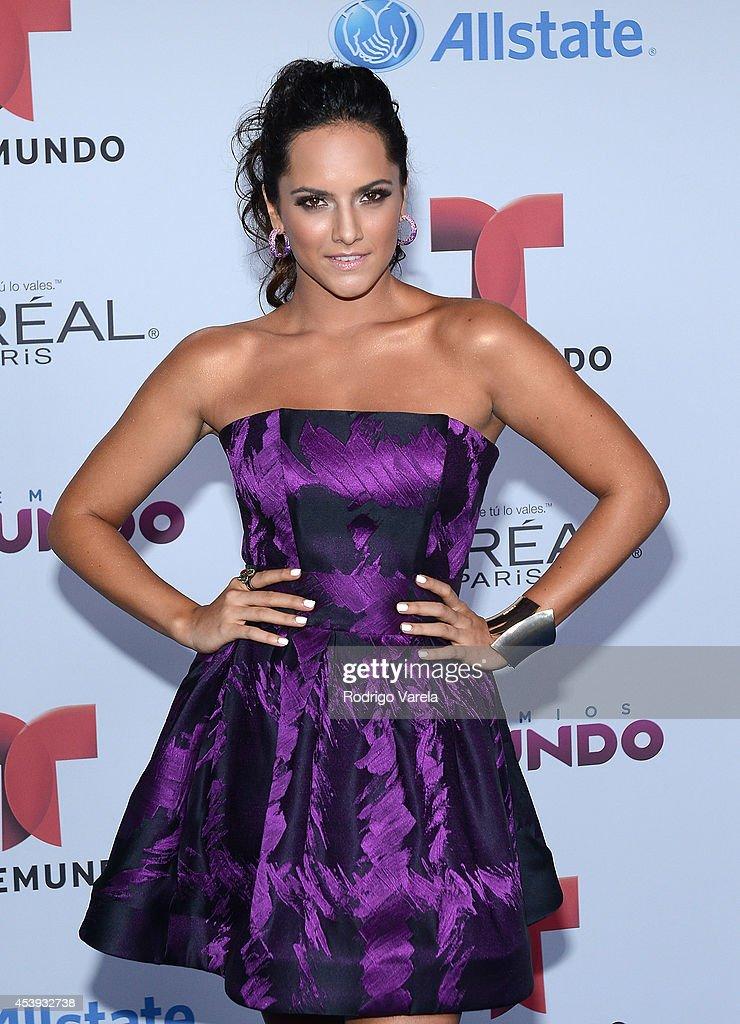 Ana Lorena Sanchez arrives at Premios Tu Mundo Awards at American Airlines Arena on August 21, 2014 in Miami, Florida.