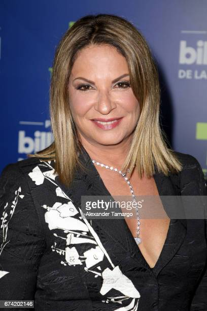 Ana María Polo poses in the press room during the Billboard Latin Music Awards at Watsco Center on April 27 2017 in Coral Gables Florida