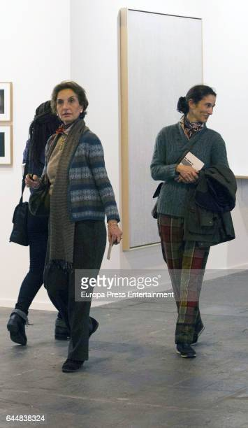 Ana Maria Abascal and her daughter Patricia Medina Abascal attend the International Contemporary Art Fair ARCO 2017 at Ifema on February 23 2017 in...