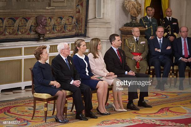 Ana Maria Alvarez Victor Garcia de la Concha Princess Elena of Spain Princess Letizia of Spain and Prince Felipe of spain attend the Order of the...