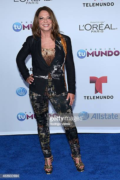 Ana Maria Polo arrives at Premios Tu Mundo Awards at American Airlines Arena on August 21 2014 in Miami Florida