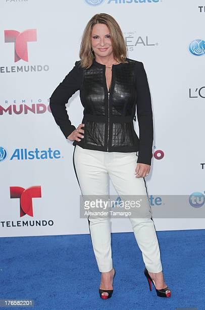 Ana Maria Polo attends Telemundo's Premios Tu Mundo Awards at American Airlines Arena on August 15 2013 in Miami Florida