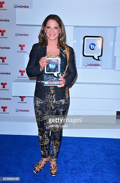 Ana Maria Polo poses backstage at Telemundo's Premios Tu Mundo Awards 2014 at American Airlines Arena on August 21 2014 in Miami Florida