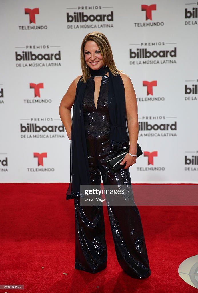 Ana Maria Polo poses during the red carpet of Billboard Latin Music Awards 2016 at Bank United Center on April 28, 2016 in Miami, United States.