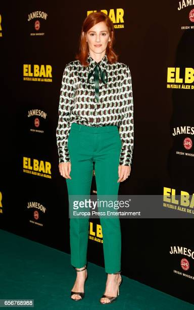 Ana Maria Polvorosa attends 'El Bar' premiere at Callao cinema on March 22 2017 in Madrid Spain
