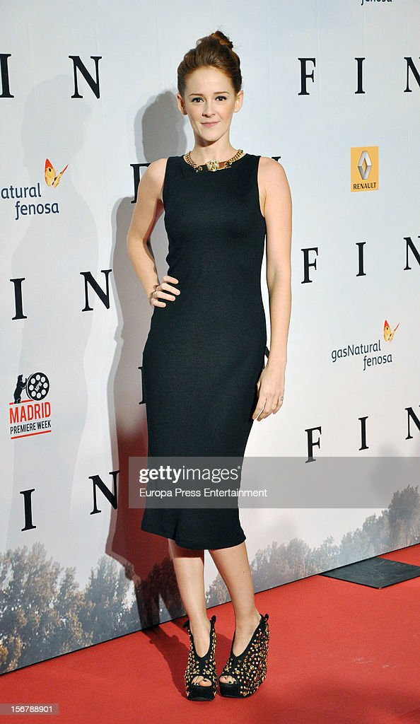 Ana Maria Polvorosa attends 'Fin' premiere on November 20, 2012 in Madrid, Spain.