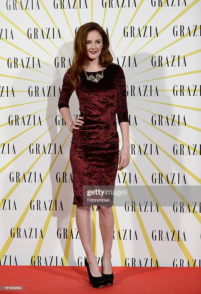 Ana Maria Polvorosa attends Grazia Magazine launch party at the Circo Prize Theater on February 12, 2013 in Madrid, Spain.