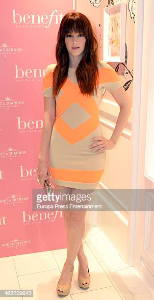 Ana Maria Polvorosa attends the inaguration of new 'Benefit' cosmetic flagship store on January 16 2014 in Madrid Spain