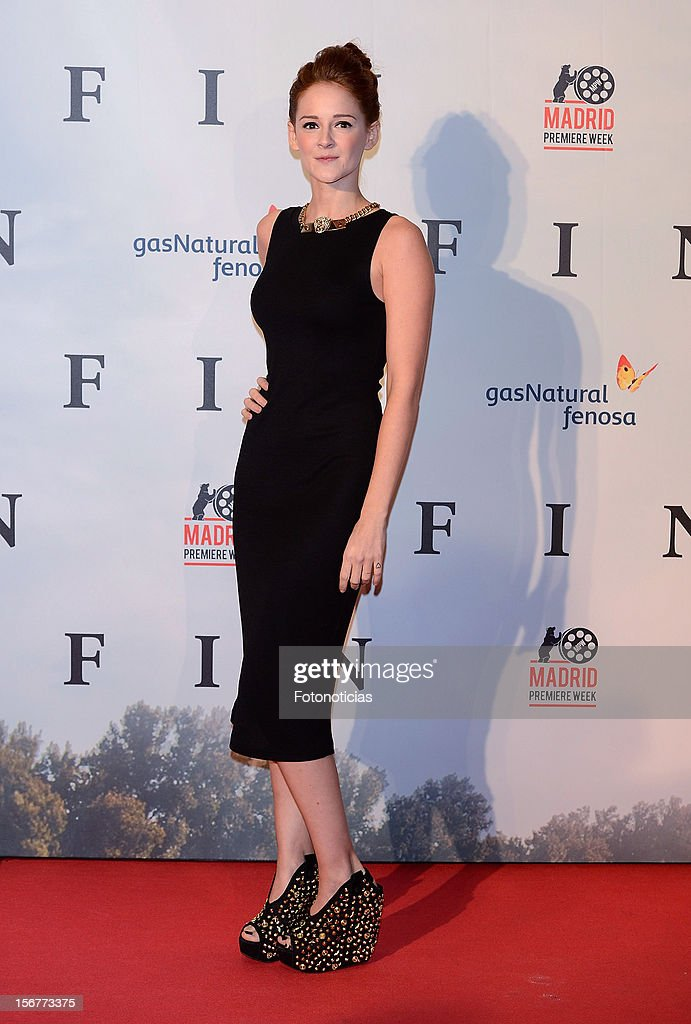 Ana Maria Polvorosa attends the premiere of 'Fin' at Callao Cinema on November 20, 2012 in Madrid, Spain.