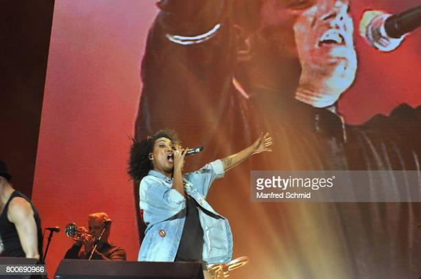 Ana Milva Gomes performs on stage a 'Falco Tribute' during the Day 2 at Donauinselfest 2017 at Donauinsel on June 24 2017 in Vienna Austria